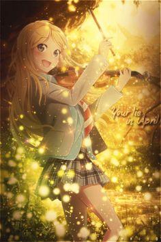 Always live like this is your last day, because you never know - Shigatsu wa Kimi no Uso ~ DarksideAnime Fanarts Anime, Anime Characters, Chica Anime Manga, Anime Art, Hikaru Nara, Baka To Test, Miyazono Kaori, Otaku, Your Lie In April