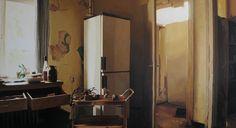 Übermalte Fotografie der Kühlschrank Sahin Celikten