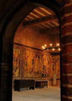 Banquet Hall in Tatershall Castle, Lincolnshire, England, story inspiration