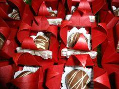 Cestinhas em Origami - Casamento J & A
