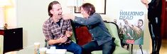 Pin for Later: 14 Times Norman Reedus and Andrew Lincoln's Bromance Was Too Adorable to Ignore When They Shared a Belly Laugh