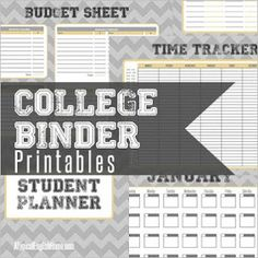 A Typical English Home: College Binder Printables: Budget And Finance