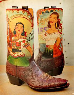 Rocketbuster, the finest Handmade Custom Cowboy Boots. Family owned, handmade in TEXAS,shipped worldwide.Spaceage vintage style for folks who just ain't boring! Custom Cowboy Boots, Custom Boots, Cowboy And Cowgirl, Cowgirl Style, Cowgirl Boots, Western Boots, Cowboy Hats, Mode Country, Boot Scootin Boogie