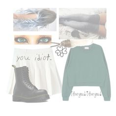 """""""//her lips are like the galaxy's edge\\"""" by galaxyedges ❤ liked on Polyvore featuring Dr. Martens"""