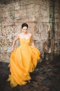 What To Wear When It's Not Your First Wedding Strapless Dress Formal, Formal Dresses, Wedding Dresses, Marigold Wedding, Real Weddings, Wedding Decorations, Wedding Day, Couples, Outfits