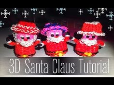 Rainbow Loom 3D Weihnachtsmann - Santa Claus. Language in German I believe. It's cute though.