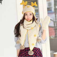 d65a0527048 Cute deer hat scarf and gloves set for girls best Christmas gift · Christmas  Gifts For GirlfriendBest Christmas GiftsWinter Knit ...