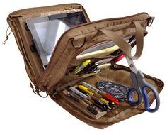 iPad Organizer Case made with 500 Denier Cordura. No MOLLE but some Velcro.