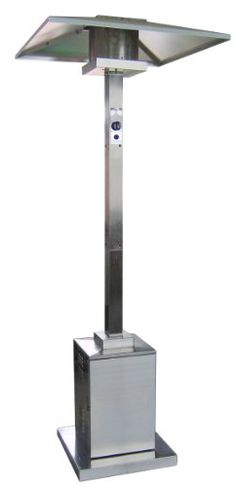 az patio heaters commercial patio heater in stainless steel - Az Patio Heaters