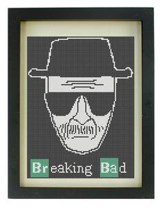 Heisenberg Breaking Bad Cross Stitch Pattern by TheIronStitch, £1.75