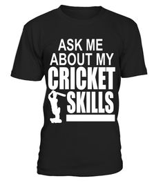 """# Ask Me About My Cricket Skills Funny Batting T-shirt .  Special Offer, not available in shops      Comes in a variety of styles and colours      Buy yours now before it is too late!      Secured payment via Visa / Mastercard / Amex / PayPal      How to place an order            Choose the model from the drop-down menu      Click on """"Buy it now""""      Choose the size and the quantity      Add your delivery address and bank details      And that's it!      Tags: Ask Me About My Cricket Skills…"""