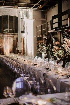 The LANE Real Weddings / Industrial Opulence