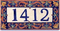 House Number Italian Style Address tile Custom by LuciaFortArt, $93.00 Tile House Numbers, Italian Tiles, Italian Pottery, Italian Home, Pottery Classes, French Country, French Style, Knights, Etsy