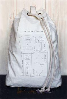 Anatomy of a Shirt laundry bag