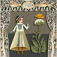Elsa Mora. Paper art. #diorama #papercut