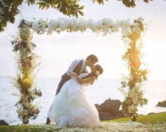 Wedding Arch - Bridal Bliss - Wedding Dream - Bliss Wedding Design, Petals, Dmitri & Sandra Photography - Kukahiko Estate, Maui, Hawaii