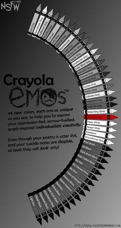 Emo Crayola.