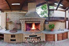 Simple Outdoor Kitchen, Outdoor Kitchen Plans, Backyard Kitchen, Outdoor Kitchen Design, Outdoor Barbeque, Pizza Oven Outdoor, Outdoor Rooms, Outdoor Living, Diy Wood Stove