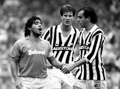 Tridente talentosísimo! Maradona M.Laudrup y Platini. Fútbol champagne!