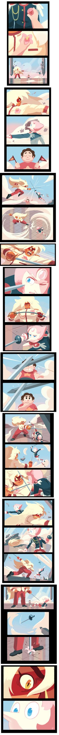 """do think it's cool that pearl and jasper are both famed war veteran dual-wielding gems, I'd love to see them challenge/talk to each other in the future"""" White Diamond and Pink Diamond eye design prediction Steven Universe Pictures, Steven Universe Funny, Steven Univese, Pearl Steven, Perla Steven Universe, White Diamond Steven Universe, Jasper Steven Universe, Revolutionary Girl Utena, Universe Art"""
