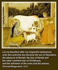 kṛṣṇāya vāsudevāya devakī-nandanāya ca nanda-gopa-kumārāya govindāya namo namaḥ