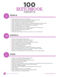 '100 Sketchbook Prompts Your Students Will Love...!' (via The Art of Education)