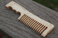Beard Comb: Hardwood Combat Cleaver by HandleBeardCombs on Etsy