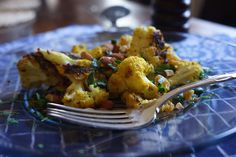 This recipe takes cauliflower from ordinary to a dish everyone will fight over. Roasted cauliflower with curry and raisins offers heat and sweet.