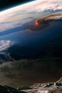 Surprising volcanic eruption seen from space.