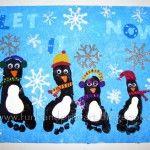 Footprint Penguin Canvas Keepsake