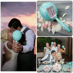 Courtney & Colin Starfish #maracas for their #puertovallarta #wedding