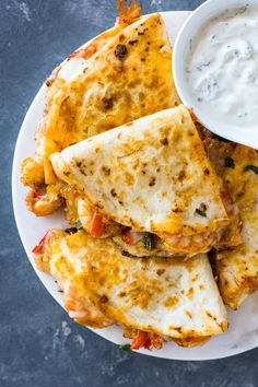 The best shrimp quesadillas ever were cooked on April . - The best shrimp quesadillas ever were cooked on April My husband and I reall … – - Fish Recipes, Seafood Recipes, Mexican Food Recipes, Cooking Recipes, Healthy Recipes, Healthy Food, Summer Seafood Recipe, Recipes With Shrimp, Best Food Recipes
