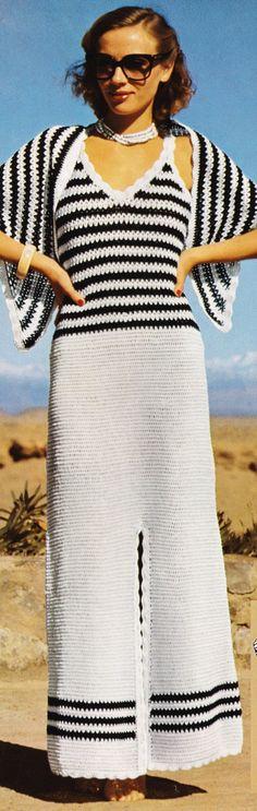 Vintage Crochet Pattern Halter Long