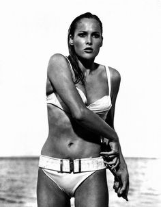 Ursula Andress as Honey Ryder in 'Dr. No', 1962, directed by Terence Young | 1960's | diverwoman with a business of her own- in the 1960's!