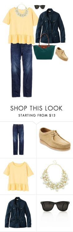 """early fall"" by whowho01 on Polyvore featuring Madewell, Clarks, MANGO, Oasis, L.L.Bean and Longchamp"