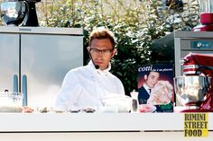 Lo chef Stefano Ciotti a #blogfest13 #food #showcooking #chef