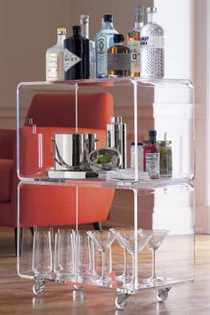 Acrylic Stacked Clear Accent Table