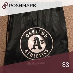 Oakland Athletics Drawstring bag Oakland Athletics Drawstring bag! BUNDLE with other MLB Drawstring bags! MLB Bags