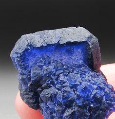 Blue Fluorite on Quartz Huanggang Mine Hexigten Banner Ulanhad League Inner Mongolia A.R. China Mineral Specimen For Sale