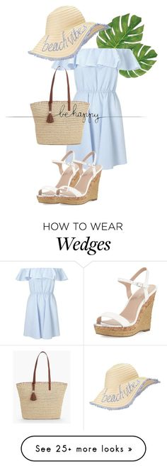 """""""summer beach vacation"""" by vic-dmc on Polyvore featuring Miss Selfridge, Talbots, Charles by Charles David and Tattly"""