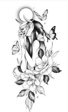 Red Ink Tattoos, Dope Tattoos, Anime Tattoos, Mini Tattoos, Leg Tattoos, Body Art Tattoos, Sleeve Tattoos, Floral Thigh Tattoos, Animal Thigh Tattoo