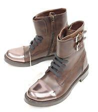 Brunello Cucinelli кожаные коричневые сапоги обувь Размер 7 это 37 новые