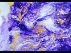 "Моя авторская техника рисования "" Волшебная палочка"". watercolor painting - YouTube"