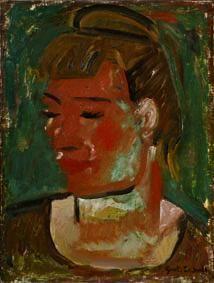 Gustave De Smet - Portrait Of Woman