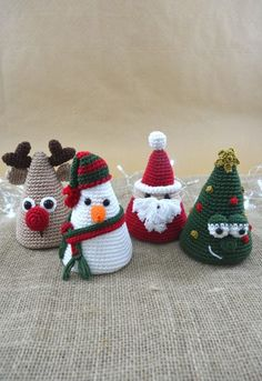 Amigurumi Christmas Collection - Crochet Christmas Pattern For Home Decoration Crochet Christmas Decorations, Christmas Crochet Patterns, Holiday Crochet, Christmas Crafts, Christmas Christmas, Crochet Amigurumi, Crochet Toys, Amigurumi Patterns, Cute Crochet