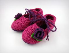 A personal favorite from my Etsy shop https://www.etsy.com/listing/226904358/baby-girls-crochet-bootiesbooties-with