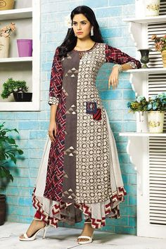Show details for Fetching multicolor designer flared kurti Kurti Neck Designs, Kurti Designs Party Wear, Blouse Designs, Pakistani Dresses, Indian Dresses, A Line Kurti, India Fashion, Woman Fashion, Indian Designer Wear