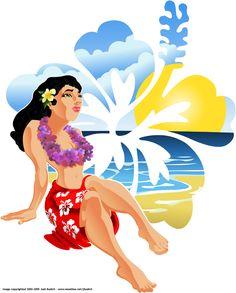 Hawaiian girls art | Hawaiian Girl by jbudich