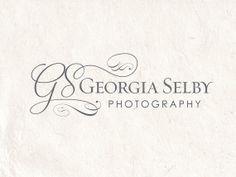 Premade photography logo design using calligraphy by AquariusLogos, $40.00