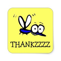 funny cartoon mosquito thank you sticker - thank you gifts ideas diy thankyou Cartoon Mosquito, Cartoon Eyes, Munchkin Cat, Thank You Stickers, Thank You Gifts, Dog Training, Dog Cat, Sayings, Cats